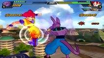 *Remake* Bills (Beerus) vs Goku SSJGod / Vegeta SSJGod/ Whis   Dragon Ball Z Budokai Tenka