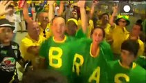 Brazil parties after win over Columbia