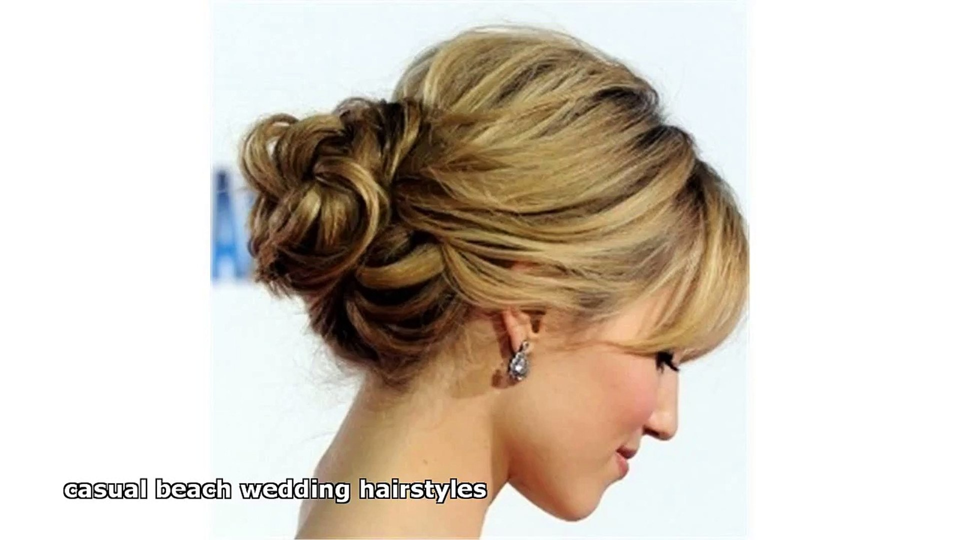 casual beach wedding hairstyles