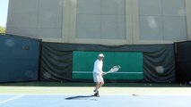 Open Tennis Serve Practice(with open Stance & open grip)