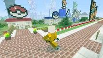 "Minecraft Gameplay Let's Play How To Build Pokemon Vaporeon ""Minecraft Timelapse"" Xbox One Pixel Art"