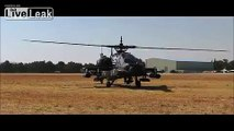 AH-64 Apache -  Wheelie Takeoff.