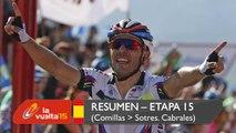 Resumen - Etapa 15 (Comillas / Sotres. Cabrales) - La Vuelta a España 2015