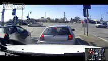 Close call at an intersection...