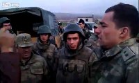 Turkish Soldiers beat up PKK supporters