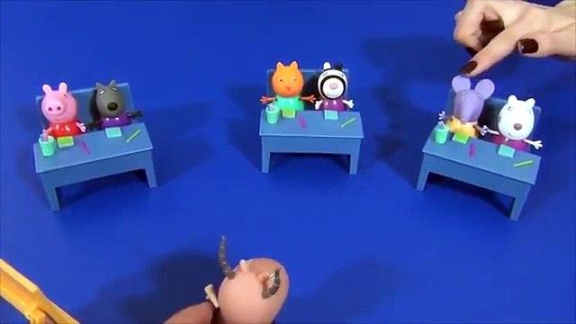 Peppa Pig en français. Peppa Pig étudie des fruits, des legumes et les couleurs à l'école