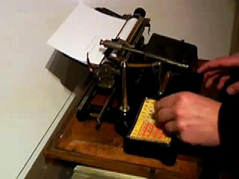 The Mignon Index Typewriter - 1905