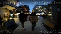 Protest/Demonstration emot ACTA 4Februari @ Sergels Torg Stockholm
