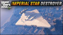 GTA 5 Mods - HUGE WARSHIP IMPERIAL STAR DESTROYER! Star Wars Ship Mods (GTA 5 Mods Showcase)