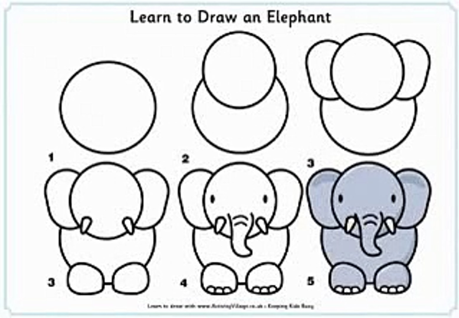 Learn How To Draw An Elephant Video Dailymotion
