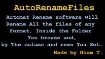 Windows 7 Auto Rename Files tool-Automat Rename Files software Noam T.
