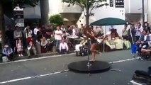 Pool dance by Japanese girl in Japan