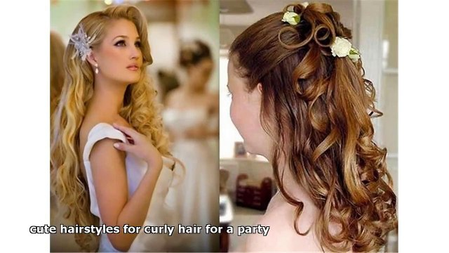 Cute Hairstyles For Curly Hair For A Party Video Dailymotion