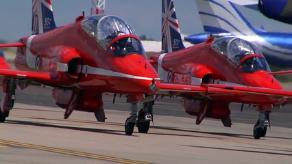 Royal Air Force Red Arrows at RAF Fairford - June 2014