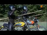 Motorbike duel Bud Spencer and Terence Hill