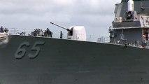 USS Benfold (DDG 65) Leaving Pearl Harbor - Hawaii