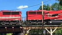 CSX Mixed Freight Train at Mount Royal Station