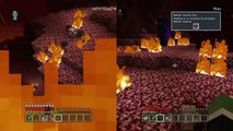 Minecraft: PlayStation4 My brother's skeleton mob heads turn into zombie mob heads