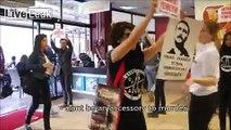 Vegan Girls Protest In A Burger King Restaurant