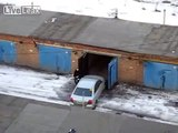 Girl puts car garage, I laughed to tears!