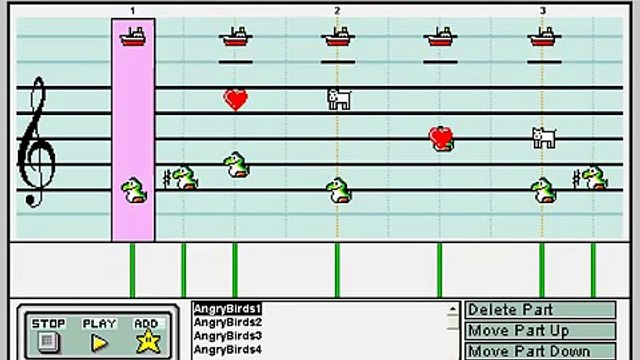 (Angry Birds) Mario Paint Composer - Angry Birds Theme