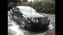 Hand Wash and Snow Foam on Mercedes Benz CLK DTM - Seattle Auto Detailing