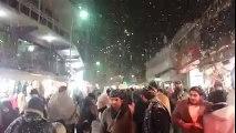 Amazing Snow Fall in Murree (Pakistan) - Heart Touching Night View