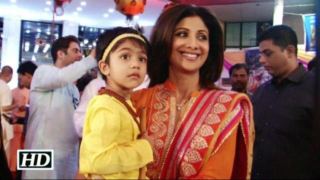 Watch How Shilpa Shettys son Viaan celebrates Janmashtami