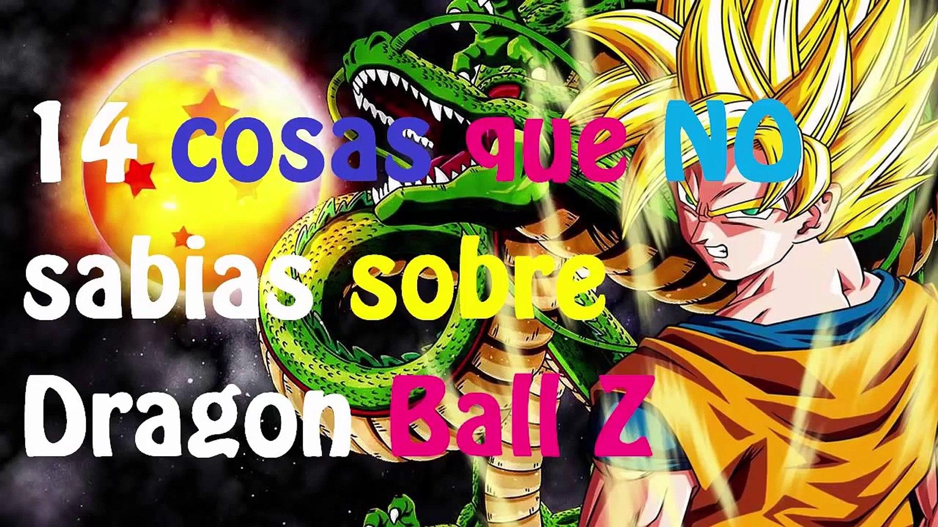14 COSAS SORPRENDENTES QUE NO SABIAS DE DRAGON BALL Z