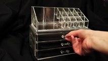 Ohuhu® Makeup Cosmetics Organizer Acrylic Transparent 3 Drawers Storage Box Review