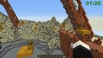 The Diamond Minecart Minecraft //Dantdm :  TRAYAURUS  TRAMPOLINE CHALLENGE   Minecraft Mod Minigame