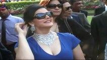 Busty Zarine Khan in Tight Bosom Fit Short Dress at Gitanjali Race