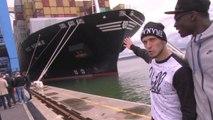 Les joueurs du HAC visitent le Port du Havre
