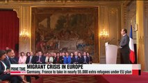 Germany, France to accept 55,000 extra refugees under EU plan