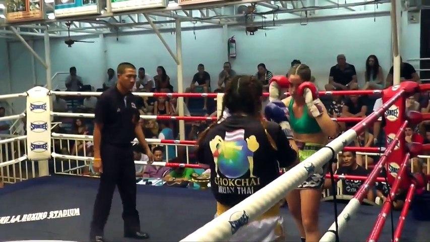 Rozi Komlós VS Justine Chokchai Muay Thai Bangla Boxing Stadium, 30th Jan 2015 | Godialy.com