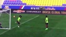 Neymar and Marcelo Amazing Freestyle Skills on Brazil training 2015