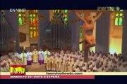 Papa celebra misa en la Catedral de la Sagrada Familia
