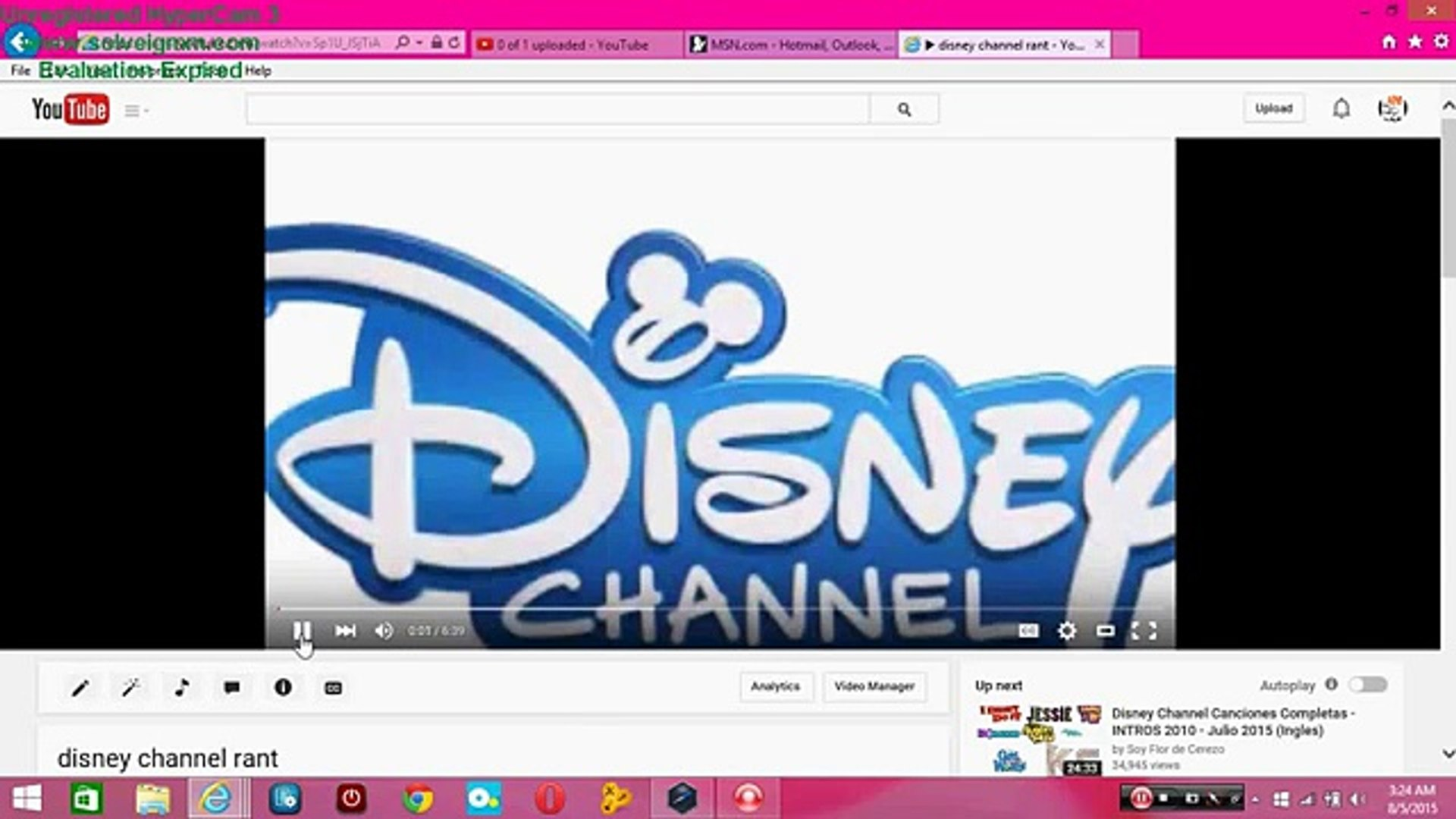 my reaction on my own disney channel rant