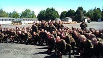 NZ ARMY RESERVE FORCE MARCH OUT HAKA 2013
