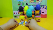 Play Doh Surprise Eggs Peppa Pig Lego Monsters University The Smurfs Dora Hello Kitty Toys
