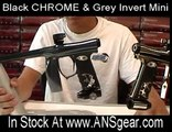 New Black Chrome & Gunmetal Invert Mini Paintball Guns