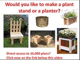 How to make planter boxes: How to make a Wood planter plan? planter drawings needed? (Click Here)