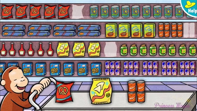 ♡ Curious George   Jorge el Curioso   Supermarket Mix up Funny Pattern Video Game For Ki