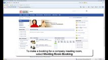 Intranet DASHBOARD Meeting Room Booking Overview