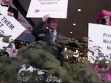 "Glenn Beck protest in East Lansing, MI - ""Billionares for Wealthcare!"""
