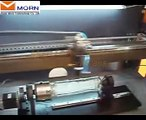 MORN laser engraving machine on glass with rotary clamp