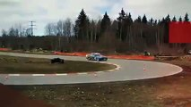 BMW E34 DODGE VIPER V10 ENGINE DRIFTING BURNOUT