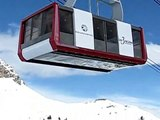 Skiing down to Courchevel Airport
