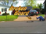 Skating a broken skateboard (rebuild board too)