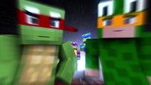 teenage mutant ninja turtles minecraft animation parody